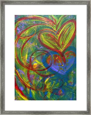 Impact Of Love Framed Print by Bethany Stanko