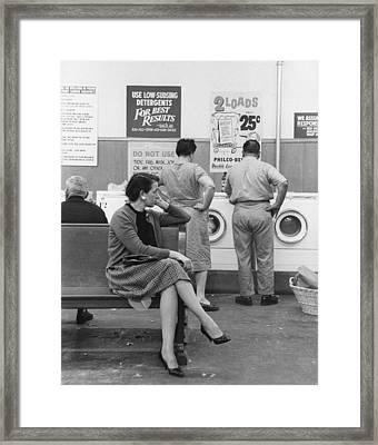 Impatient Washers Framed Print by Winfield J. Parks Jr.