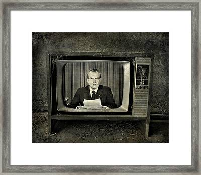 Impeached Network  Framed Print by Empty Wall