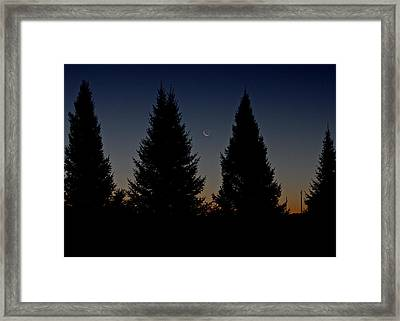 Framed Print featuring the photograph Impending Sunrise by Penny Meyers