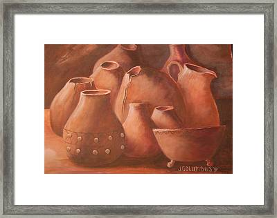 Imperfect Indian Pottery Framed Print by Janna Columbus