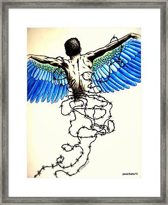 Impossibility To Escape Faced With Life Framed Print by Paulo Zerbato