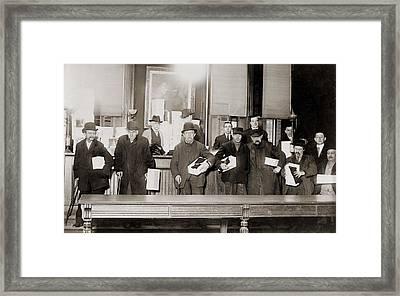 Impoverished Bowery Men, Pose Framed Print