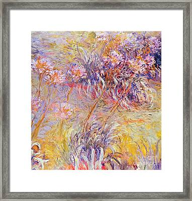 Impression - Flowers Framed Print by Claude Monet