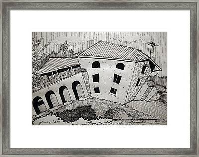 Impression Abandoned House Portugal Framed Print