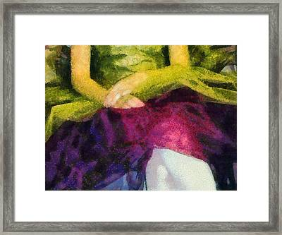 Impression Of A Ballerina Lap Framed Print by Angelina Vick