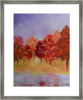 Impression Of Fall Framed Print by Karin Eisermann