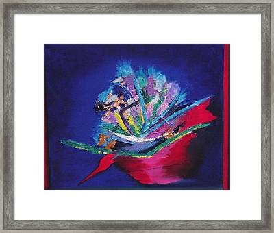 Impression Of Flowers Framed Print by Karin Eisermann