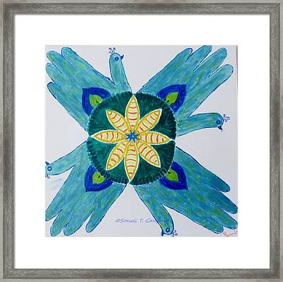 Framed Print featuring the painting Impression by Sonali Gangane