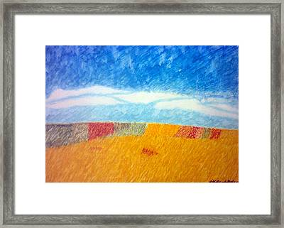 Impressionist Fields Framed Print by Nicole whittaker