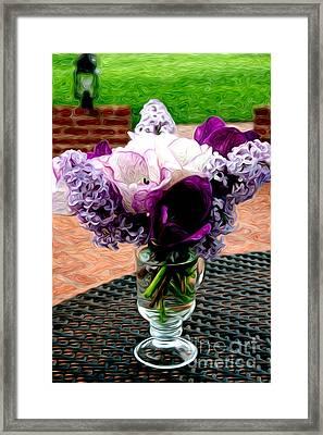 Impressionist Floral Bouquet Framed Print by Karen Lee Ensley