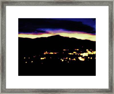 Framed Print featuring the photograph Impressionistic Pikes Peak by Clarice  Lakota