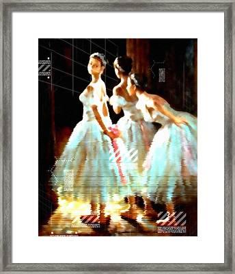 Impressions Of Modern Ballet Framed Print