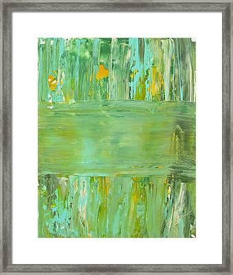 Framed Print featuring the painting Impulse by Kathy Sheeran