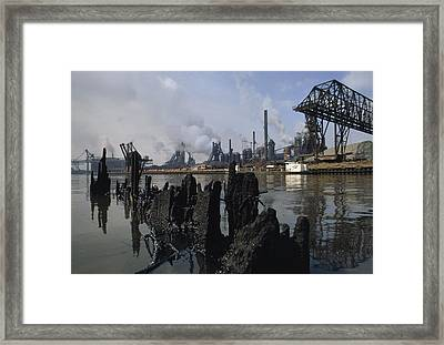 In 1969, This River Was So Polluted Framed Print