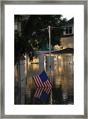 In 2008 Cedar Rapids Iowa Suffered Framed Print by Everett