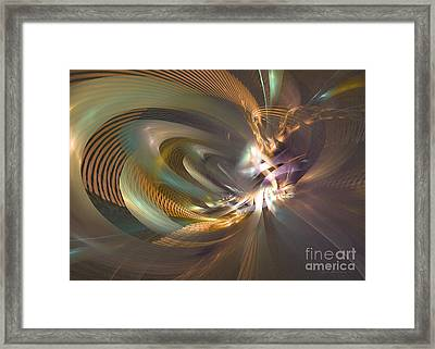 In A Fog - Fractal Art Framed Print by Sipo Liimatainen