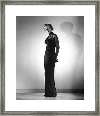 In A Lonely Place, Gloria Grahame Framed Print by Everett