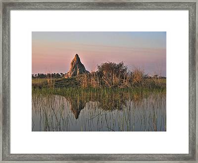In A Mirror Framed Print by William Fields