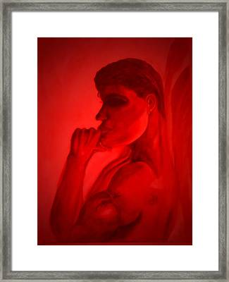 In A Red Mood Framed Print by Marian Hebert
