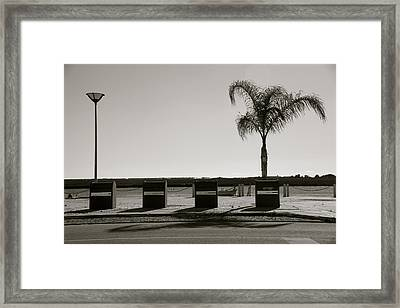 In A Row Framed Print by Jez C Self