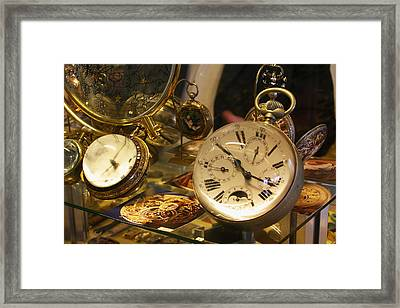 In A Watch Museum Framed Print by Carl Purcell