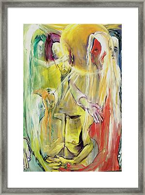 Framed Print featuring the painting In And Out Of Spiritual Confusion by Kenneth Agnello