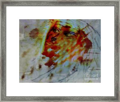 In Another Flight - In Another Zone Framed Print by Fania Simon