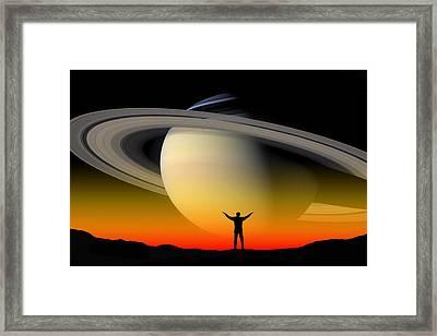 In Awe Of Saturn Framed Print