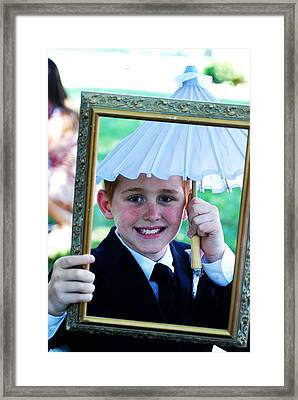 In Case It Rains Framed Print by Gloria  Shelton