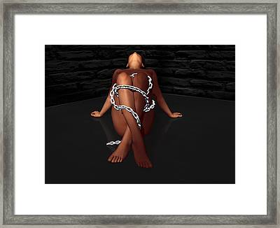 In Chains Framed Print by Simone Gatterwe