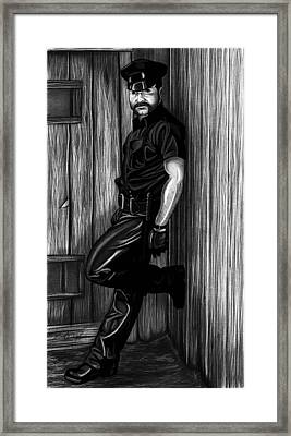 In Dark Alleys Framed Print by Brent  Marr