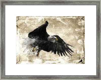 Framed Print featuring the digital art In Flight 8 by Carrie OBrien Sibley