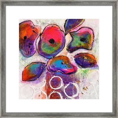 In Full Bloom White Bright Light Framed Print by Johane Amirault