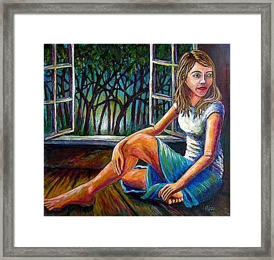 In Hesitation Framed Print