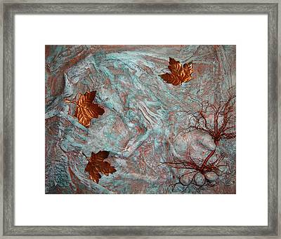 In His Hands Framed Print by Cristy Crites