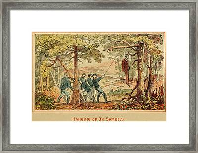 In June 1862 Federal Soldiers Hang Dr Framed Print