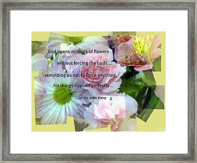 In Life's Own Time Framed Print by Michelle Frizzell-Thompson