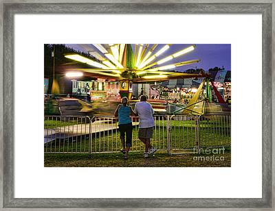 In Love At The Fair Framed Print by Paul Ward