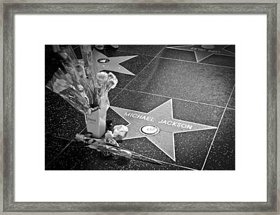 in memoriam Michael Jackson Framed Print