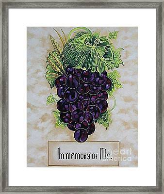 In Memory Of Me Framed Print by Kimberlee  Ketterman Edgar