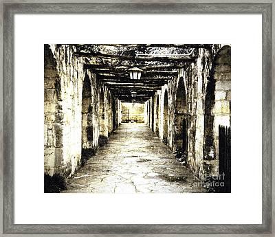 In Mission Capistrano Ca Framed Print by Merton Allen