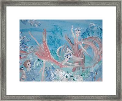 In My Dreams Im Dancing Framed Print by Judith Desrosiers