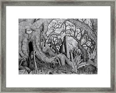 in my garden II Framed Print