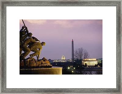 In Receding Order The Iwo Jima Framed Print by Kenneth Garrett