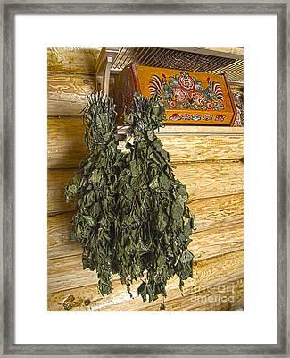 In Russian Bath Framed Print by Yury Bashkin