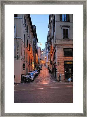 In Search Of Dinner Framed Print by