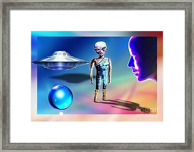 Framed Print featuring the mixed media In Space... by Hartmut Jager