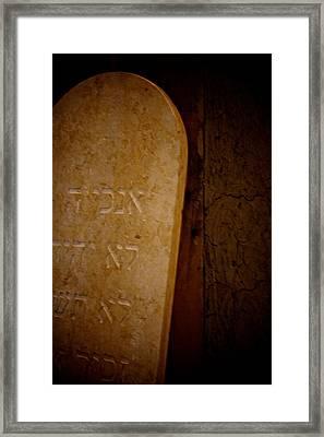 In Stone Framed Print