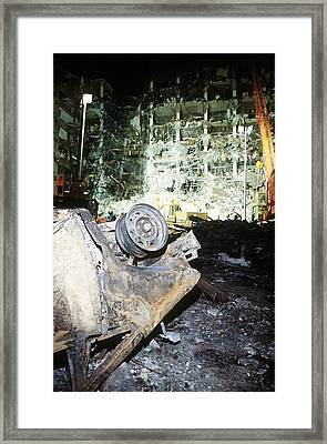In The Aftermath Of The Oklahoma City Framed Print by Everett